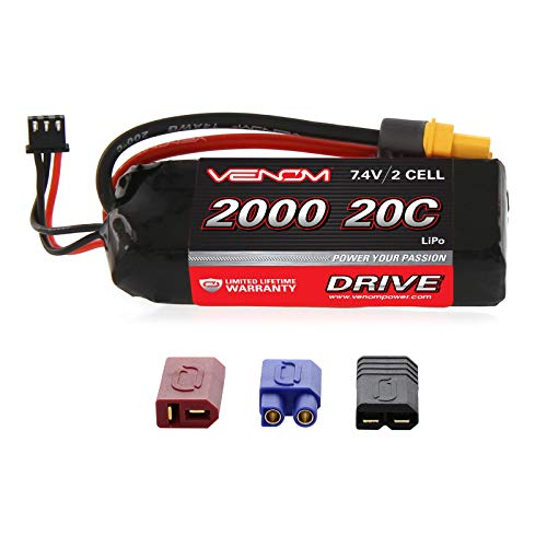Venom 20C 2S 2000mAh 7.4 LiPO Battery with Universal Plug System