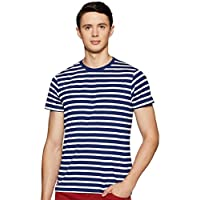 Deniklo Men's Striped Regular Fit T-Shirt