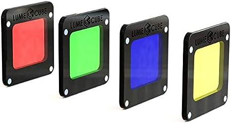 Lume Cube LC0065 - Kit de 4 filtros RGBY de Colores (Rojo, Verde, Azul y Amarillo): Amazon.es: Electrónica