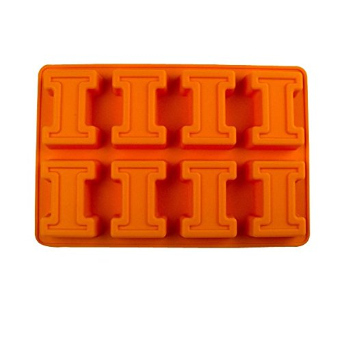 Fanpans NCAA Illinois Illini Ice Trays & Candy Mold, One Size, Orange