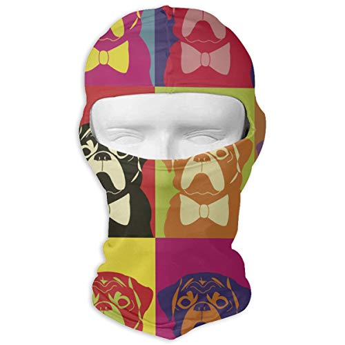Giinly Cartoon Cute Pug Dog Windproof Dust Protection Balaclava Full Face Mask Hood Headcover ()