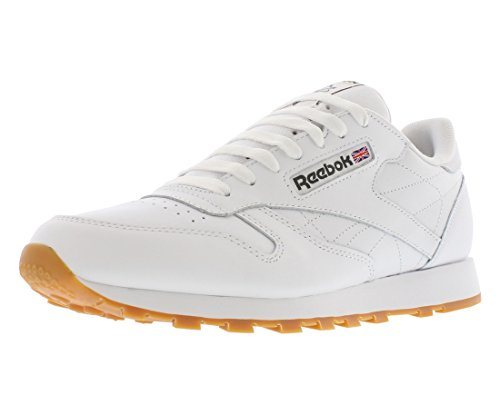 c11bf5eb798 Reebok Men s Classic Leather Sneaker White Gum 8.5 ...