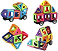Unchained Warrior Magnetic Building Blocks   50 Pieces   Best Kids Magnetic Toys Construction Stacking kits   Instruction Booklet FREE Storage Box   Learn Colours and Shapes by Play Creative Gift