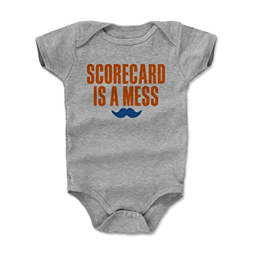 500 LEVEL Keith Hernandez New York Mets Baby Clothes, Onesie, Creeper, Bodysuit (6-12 Months, Heather Gray) - Keith Hernandez Scorecard is A Mess O