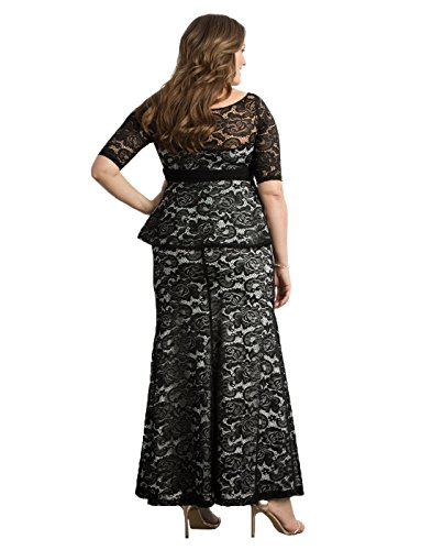 abd5101ffaa ... Trendy Dresses Kiyonna Women s Plus Size Astoria Lace Peplum Gown.   