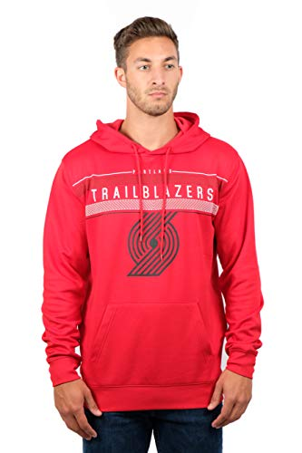 NBA Portland Trail Blazers Men's Fleece Hoodie Pullover Sweatshirt Poly Midtown, X-Large, Red