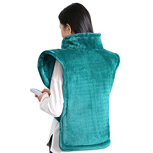 MaxKare Electric Heating Pad Neck Shoulder and Back Heating Wrap Back Pain, Sorness, Stress Relief Fast-Heating 5 Temperature Settings Auto Shut Off 24'' x ()