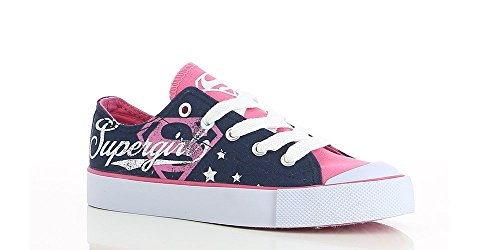 Supergirl Shoes (DC Comic's Girls Supergirl low Top Grey 2 M US Little Kid)