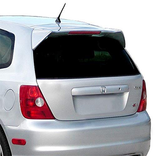 JSP Rear Wing Spoiler Compatible with 2002-2005 Honda Civic Si Custom Style Primed with LED 339079