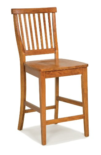 Oak Counter Height Side Chair - Americana Oak bar Stool by Home Styles