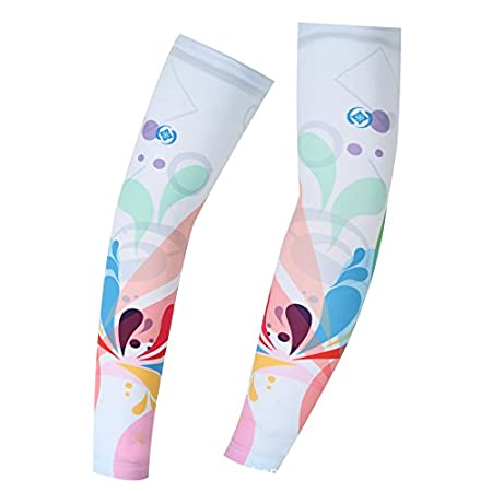 HYSENM UV Protection Cool Arm Sleeves Arm Compression Sleeves for All Outdoor Sports Stretch Fashion Quick Dry Sweat Absorption
