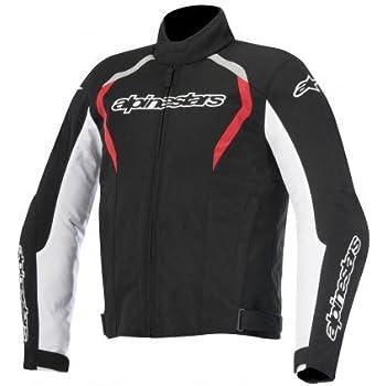 Alpinestars Fastback Waterproof Mens Street Motorcycle Jackets - Black/White/Red / Large