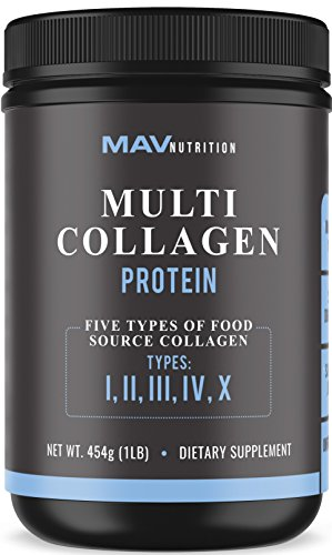 Premium Multi-Collagen Protein Powder - High-Quality Blend of Grass-Fed Beef, Chicken, Wild Fish and Eggshell Collagen Peptides, Providing Type I, II, III, V and X, Flavorless