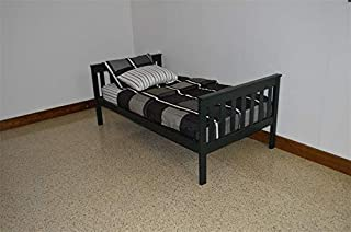 product image for DutchCrafters Amish Kids Twin Mission Bed (Paint - Dark Green)