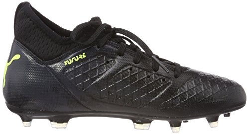 Puma Future 18.3 FG/AG Jr, Zapatillas de Fútbol Unisex Niños Negro (Puma Black-fizzy Yellow-asphalt)