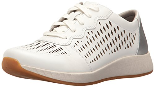 Dansko Women's Charlie Fashion Sneaker, White Leather, 41 EU/10.5-11 M US