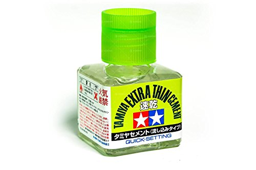 (Tamiya Extra-Thin Cement 40ml Quick-Setting)