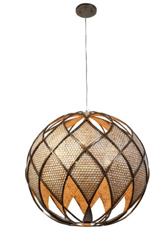 Varaluz 203P06 Argyle 5-Light Pendant - New Bronze with Desert Pearl Finish