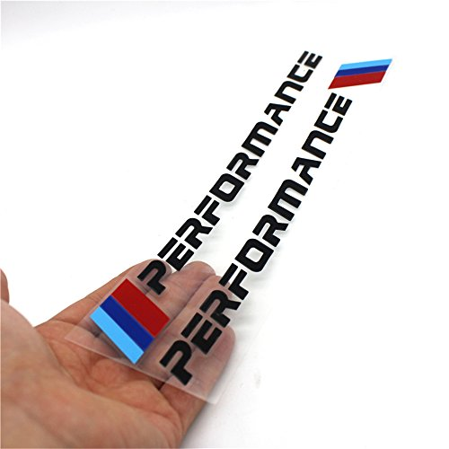 2PCS New Car Performance Sports Sticker Body Mirror Front Rear Fender Decal Styling For BMW M3 M5 X1 X3 X5 X6 E36 E39 E46 E30 E60 E92 f30