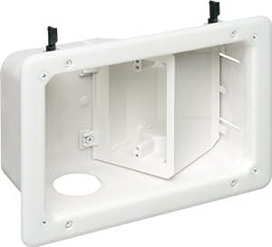 Arlington Industries Tvb712 2 Gang Angled Tv Box Recessed