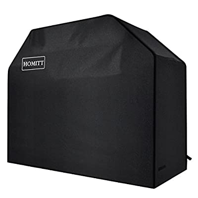 Homitt Gas Grill Cover, 58-inch 3-4 Burner 600D Heavy Duty Waterproof Grill Cover, BBQ Cover for Most Brands of Grill -Black