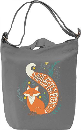 What does the fox say Borsa Giornaliera Canvas Canvas Day Bag| 100% Premium Cotton Canvas| DTG Printing|