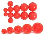 12 Cups Silicone Medical Vacuum Massage Cupping Cups Health Care Travel Set(Red)