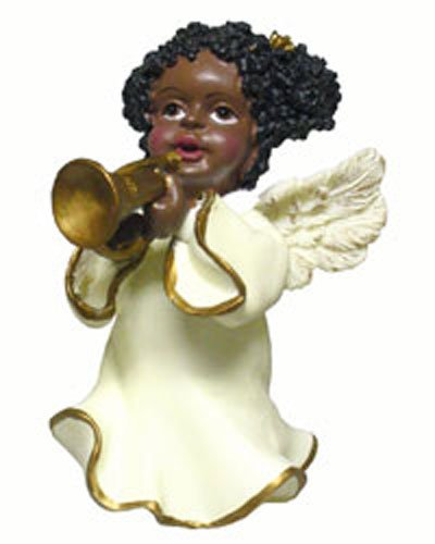Make Cd Christmas Ornaments - Ethnic Angels Playing Horn [26137B]