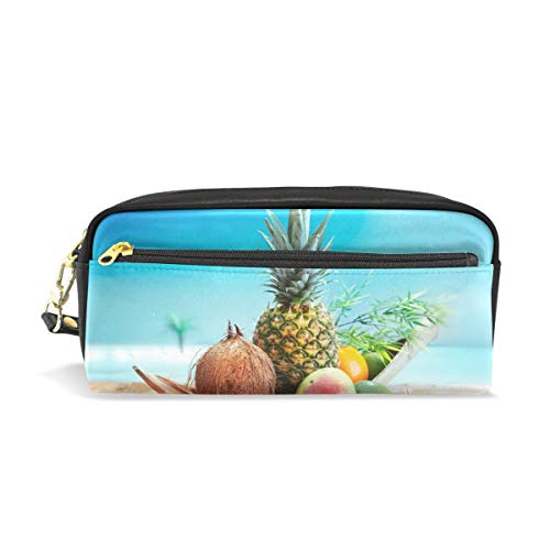 Pen Case Tropical Fruit Pineapple Coconut Avocado Kiwi Oran Pencil Pouch Makeup Cosmetic Travel School - Fruit Nyx