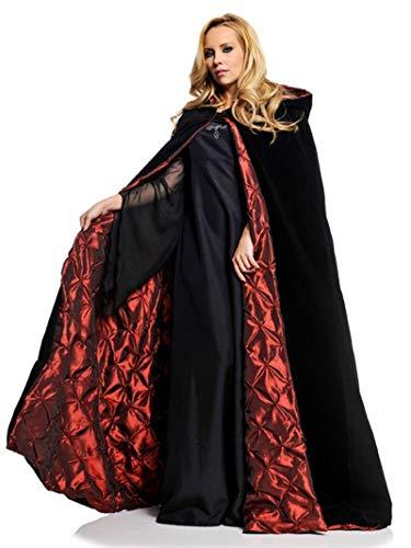Vampiress Of Versailles Adult Plus Costumes - Pizazz! Unisex-Adult's Deluxe Vampiress Cape, Black/red,