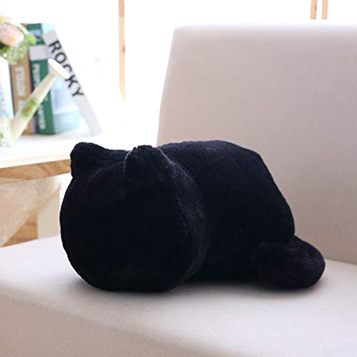 (Car Accessories M and F 1PC Cat Plush Cushions Pillow Back Shadow Cat Filled Animal Pillow Toys Color Black )
