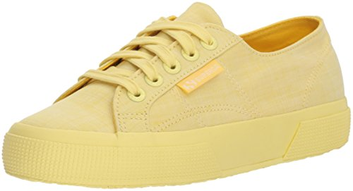 Superga Women 2750 Cottonmelangeu Sneaker Yellow
