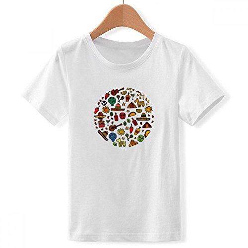 Pepper Skull T-shirt - Skull Guitar Pepper Football Illustration Crew Neck White Children T-Shirt Short Sleeve Sports Tshirts