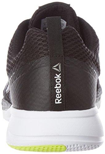 Reebok Mens Print Run 2.0, Nero / Bianco / Giallo / Nero Pwtr / Bianco / Giallo / Pwtr