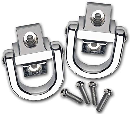 Pirate 03-10 H2 Hummer SUV & SUT w/o Tire Carrier Chrome Billet Tow Hooks