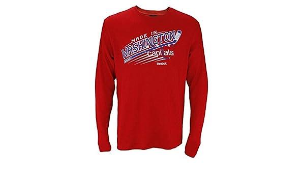 01eeb5347 Amazon.com   Washington Capitals NHL Men s Long Sleeve Thermal Shirt - Red    Sports   Outdoors