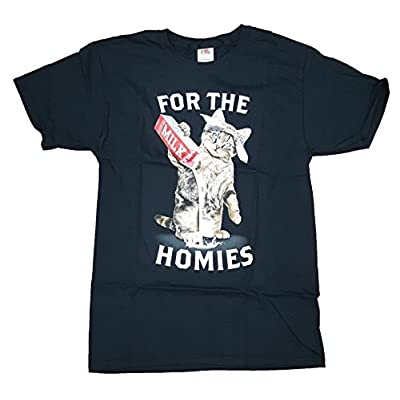 Cat shirt Fashion Kitty Cat for The Homies Black Graphic T-Shirt