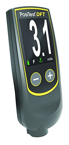 DeFelsko DFTF-B PosiTest DFT-Ferrous Coating Thickness Gage, 0 to 40 mils micrometer, +/- 0.1 mils Accuracy
