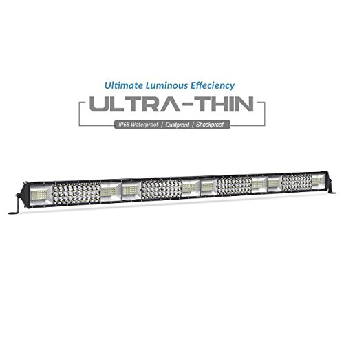 LED Light Bar 4 Row 42 inch Flood Spot Combo Beam Light Bar LED Driving Light for Jeep Pickup SUV ATV UTV Truck Boat, 5 Year Warranty ()