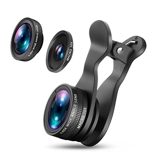 OldShark 3 in 1 HD Universal Fisheye Lens & Macro Lens & Wide Angle Lens, 360 Degree Rotate Shark Tail Long Clip Cell Phone Camera Lens Kits for iPhone 7/7 Plus, Samsung & Most Smartphones【Upgraded S1】 by Old Shark