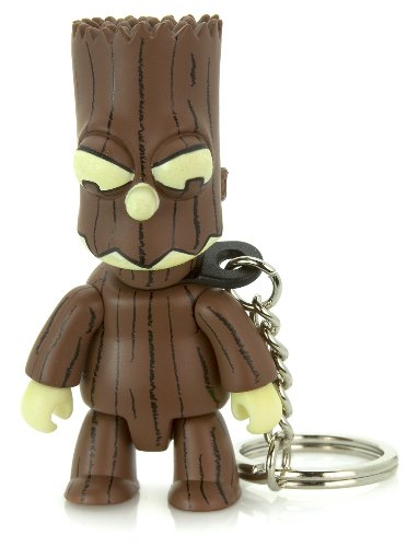 Treeman Bart Brown : The Simpsons / Toy2r Qee Crossover Keychain Collection ~2.75