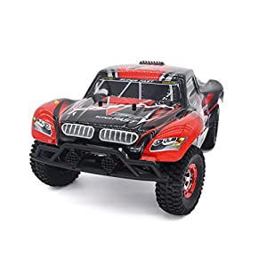 Tecesy RC Truck Fast Car 40MPH Radio Control RC Brushless buggy 2.4Ghz 4WD Short-Course RC Vehicle with 2838 4500KV Motor RC Rock Crawler RTR(Red) Best Choice for Racing