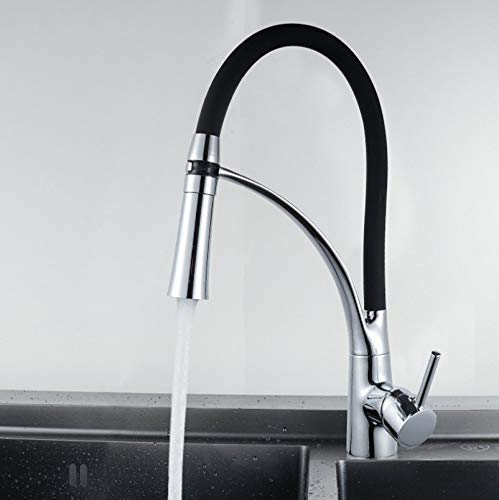MONFS-Bathroom tap Taps Kitchen Sink Full Copper Faucet color Pull-Out Kitchen Dish Hot And Cold Water Faucet