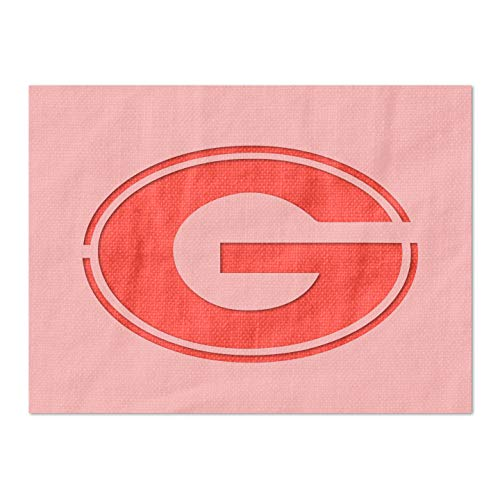 Stencil Stop Georgia Bulldogs G Logo Stencil - 14 Mil Mylar Plastic (3 x 1.94 inches)
