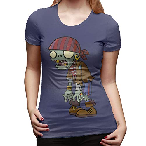 Syins Women's Custom Casual Tees Plants Vs Zombies Zombie Short Sleeve Classic T Shirts Navy M]()