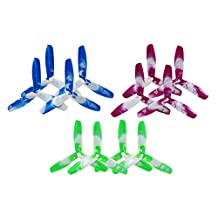 BTG - 12PCS 5050 CW/CCW 3-Blade PC Propellers for Sized 250 to 280 FPV Professional Quadcopter and Multirotor 5x5x3 5-inch Competition Grade Props - JJPRO P200, Falcon 210 & 250, Racer 250, QAV250, Kylin 250, EMAX 280, Walkera 250 ...