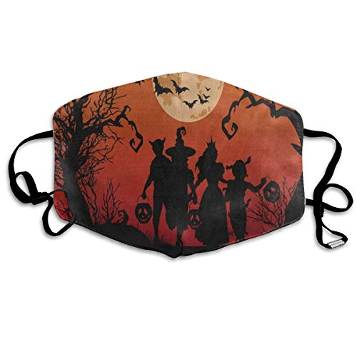 Mouth Mask Halloween Witch Bat Full Moon Pumpkin Face Mask Winter Healthy Windproof for Unisex Easter for $<!--$8.99-->