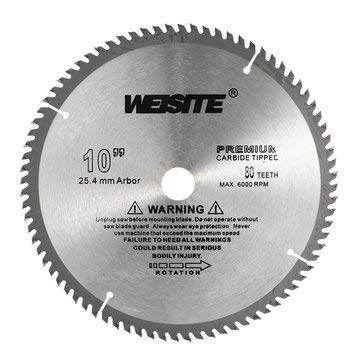 Generic 10 Inch 80T Circular Saw Blade 250mm Carbide Alloy Accurate Wood Cutting Disc