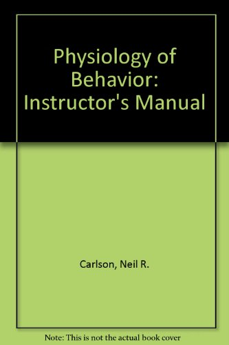 Download Physiology Of Behavior Instructors Manual Book Pdf