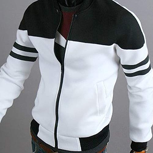 Wobuoke Mens Casual Outdoor Winter Zipper Sportswear Patchwork Jacket Long Sleeve Pocket Coat at Amazon Mens Clothing store: